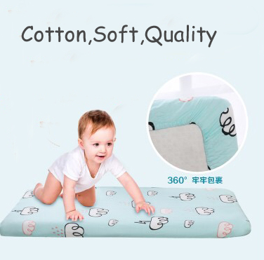 Cotton Fitted Sheet Nursery Baby Crib / Basket/ Mattress Cover Popular Baby Bedding
