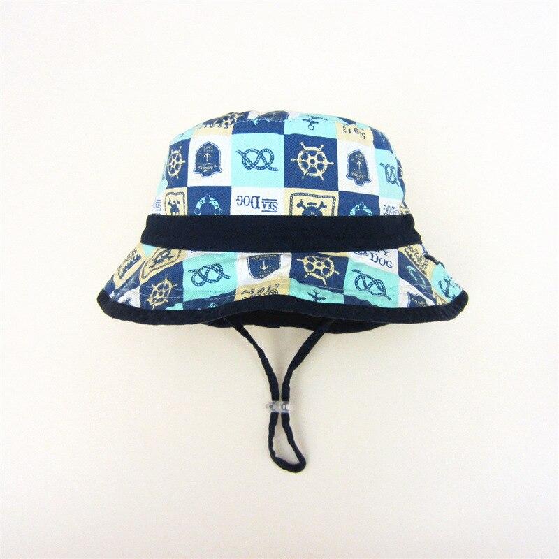 Sombrero del cubo del bebé del lado doble cráneo impresión bebé ...
