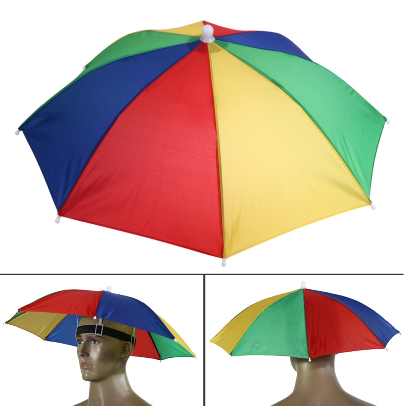 e85713d791425 Detail Feedback Questions about 50cm Hands Free Usefull Umbrella Hat ...