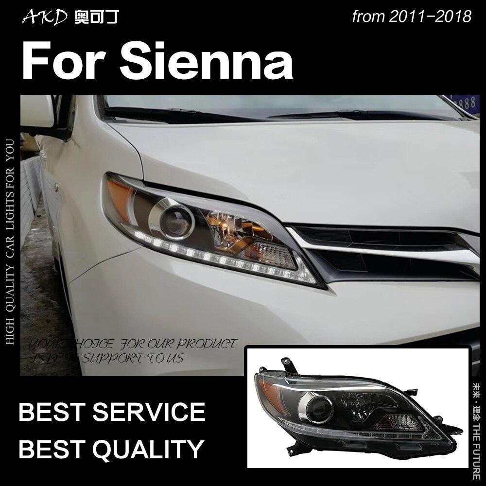 AKD Car Styling Head Lamp for Toyota Sienna Headlights 2013 2018 Sienna LED Headlight DRL Signal