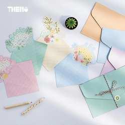 4 букв и 2 конверт свежий красивый букет цветок письмо Бумага с простой конверт подарок Канцелярские школа канцелярских товаров