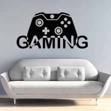 Video Game Wall Decal Gaming Gamepad Design Wall Sticker Home Interior Decor Boys Playroom Vinyl Wall Sticker Gamer Mural AY1106 wire free front bra for women full coverage plus size underwear lace floral push up zipper lingerie 32 34 36 38 40 42 a b c d