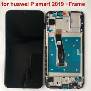 """Image 5 - 새로운 6.21 """"화웨이 P 스마트 2019 LCD 디스플레이 스크린 + 터치 패널 디지타이저 POT LX1/POT LX1AF/POT LX2J 프레임"""