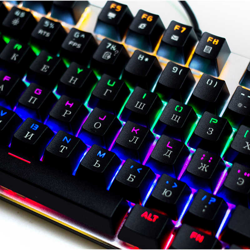 Original Metoo Gaming mechanical keyboard 87/104 keys LED Backlit USB Wired English/Russian/Spanish Keyboard for Computer gamer