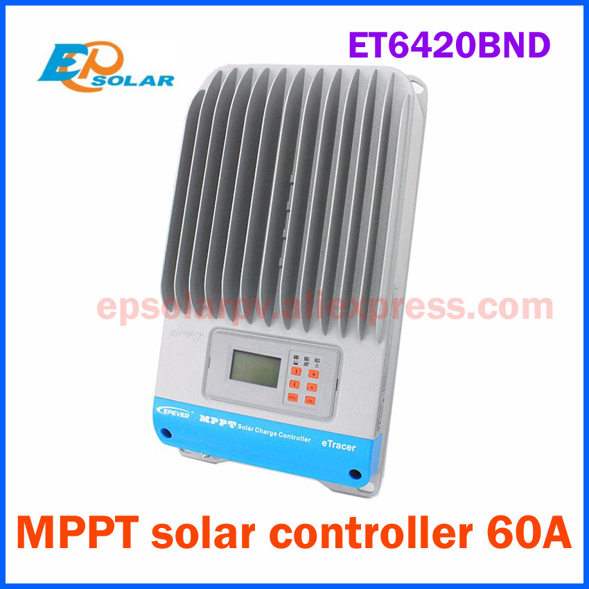 EPSOLAR ET6420BND 60A MPPT Solar Charge Controller EP eTracer 6420BND 12V 24V 36V 48V auto work EPEVER epsolar vs3048au 30a 12v 24v 36v 48v ep epever new viewstar solar charge controller lcd display