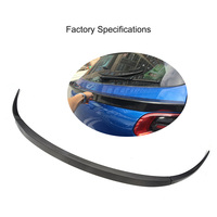 3pcs/set Carbon Fiber Rear Trunk Hatchback Middle Lip Spoiler Wing for Porsche Macan 2014 2015 2016 Car Tuning Parts