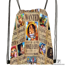 Custom One Piece@01 Drawstring Backpack Bag for Man Woman Cute Daypack Kids Satchel (Black Back) 31x40cm#180531-01-27