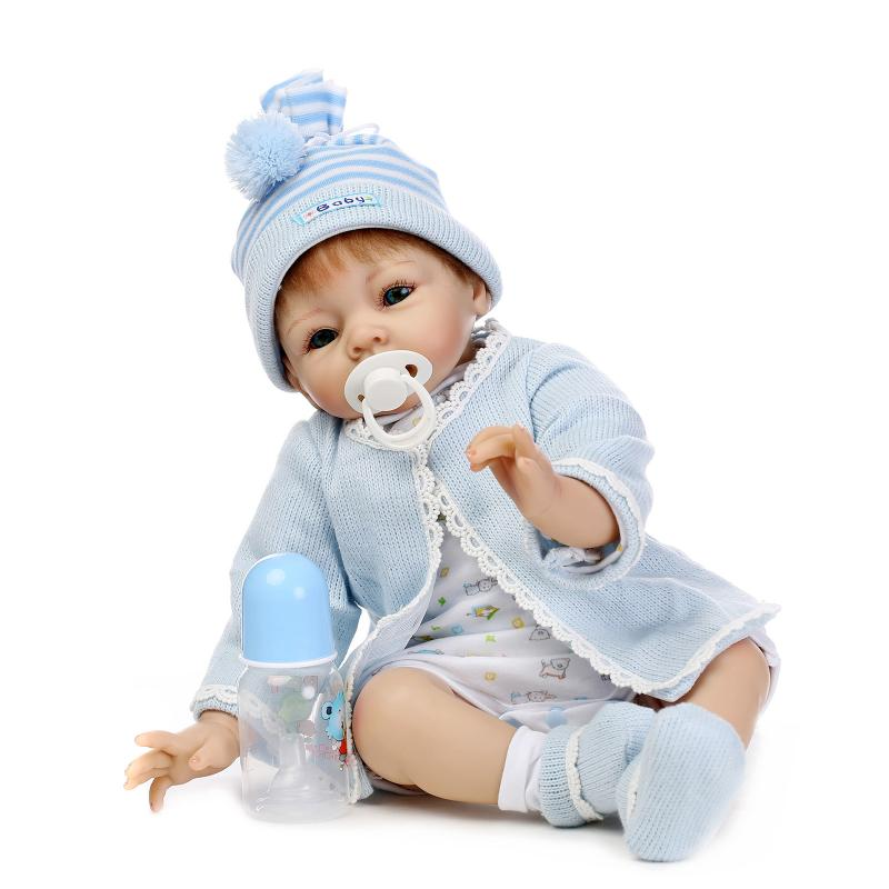 Silicone Reborn Baby Doll Toys For Girl Lifelike Boy Baby Dolls Reborn Birthday Christmas Gifts Kids Child Toys handmade ancient chinese dolls 1 6 bjd jointed doll empress zhao feiyan dolls girl toys birthday gifts