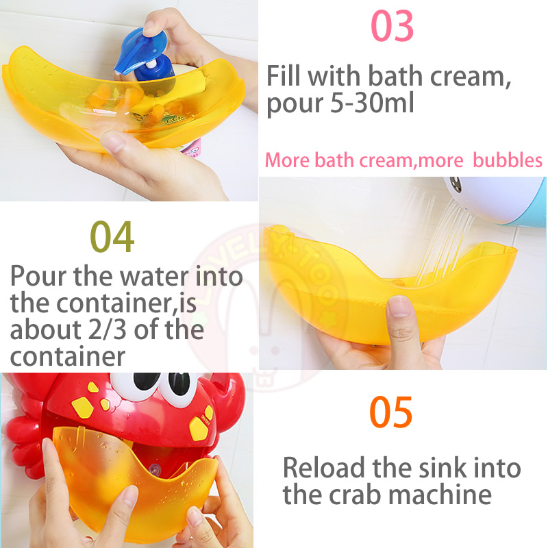Bubble Crabs Bath Toys Baby Bathtub Funny Water Pool Swimming Soap Suckers Bathroom Toy For Children Kids