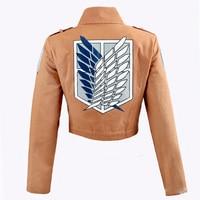 Attack on Titan Jacket Shingeki no Kyojin Scouting Legion Cosplay mascot Costume Anime Cosplay Jacket Coat