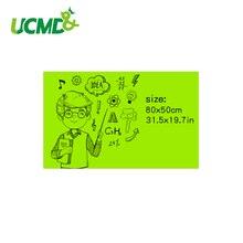 Ferrous Dry Erase Drawing Writing Whiteboard Green Board Stickers Memo Children Gift Wall Sticker 80 x 50 cm x 0.6 mm