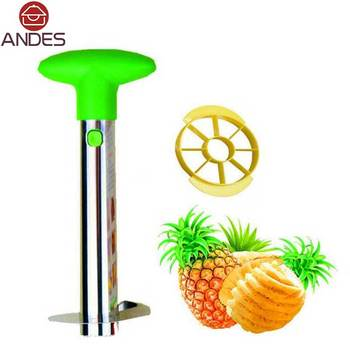 ANDES Stainless Steel Pineapple Peeler Cutter Slicer Peel Core Tools Fruit Vegetable Knife Gadget Kitchen Accessories Spiralize