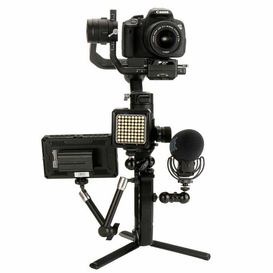 mini duplo aperto para monitor led microfone luz