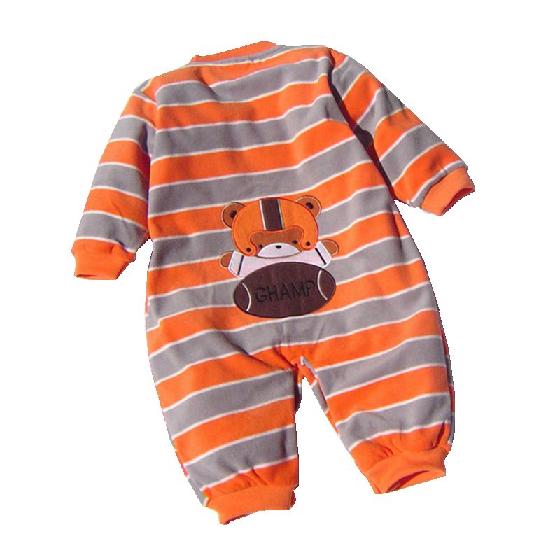 High Quality Fleece Body Baby Boy Romper Cartoon Kids Jumper Bebe Overall for Infants 2018 Fall Newborn Clothes Toddler Clothing