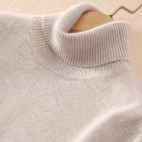Super warm Mink Cashmere soft fur wool turtleneck sweaters and sweaters for women Autumn Winter Jumper women brand Jumper