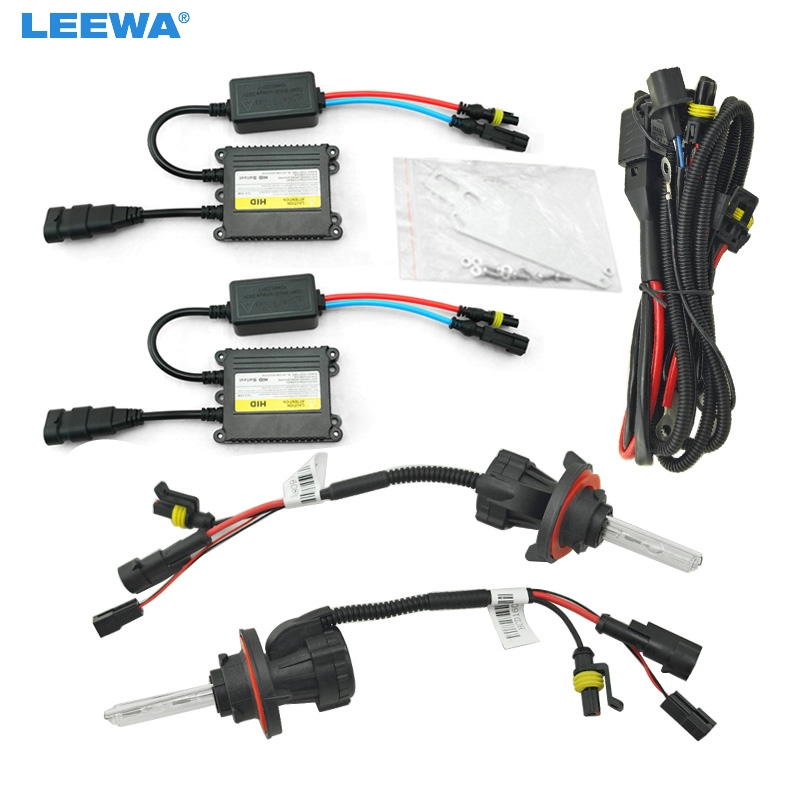 LEEWA 1set 35W AC Car Headlight H13 HID Xenon Bulb Hi/Lo Beam Bi-Xenon Bulb Light Digital Slim Ballast HID Kit #CA4534 35w d4r car hid warm white xenon headlight light