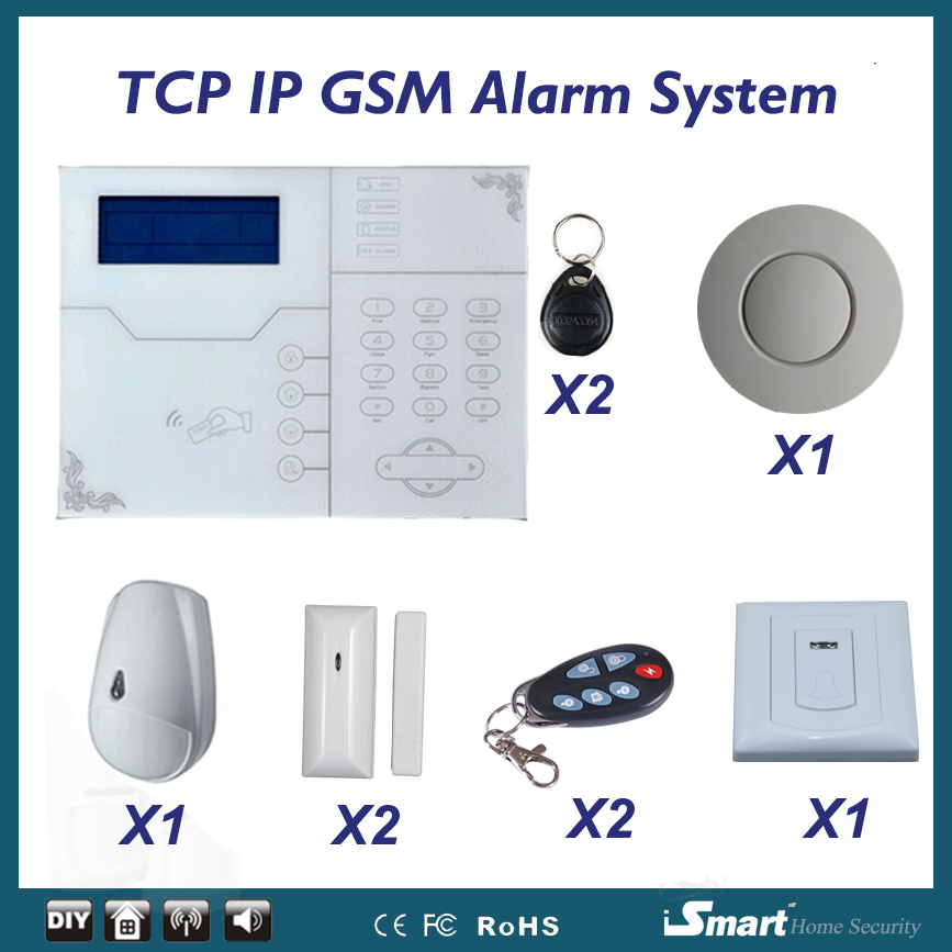 Android Iphone Cellphone APP Control GSM Intruder Alarm System Web IE Control with Pet Friend PIR Motion Sensor & Doorbell high quality web guide control system with color sensor and servo web guide controller