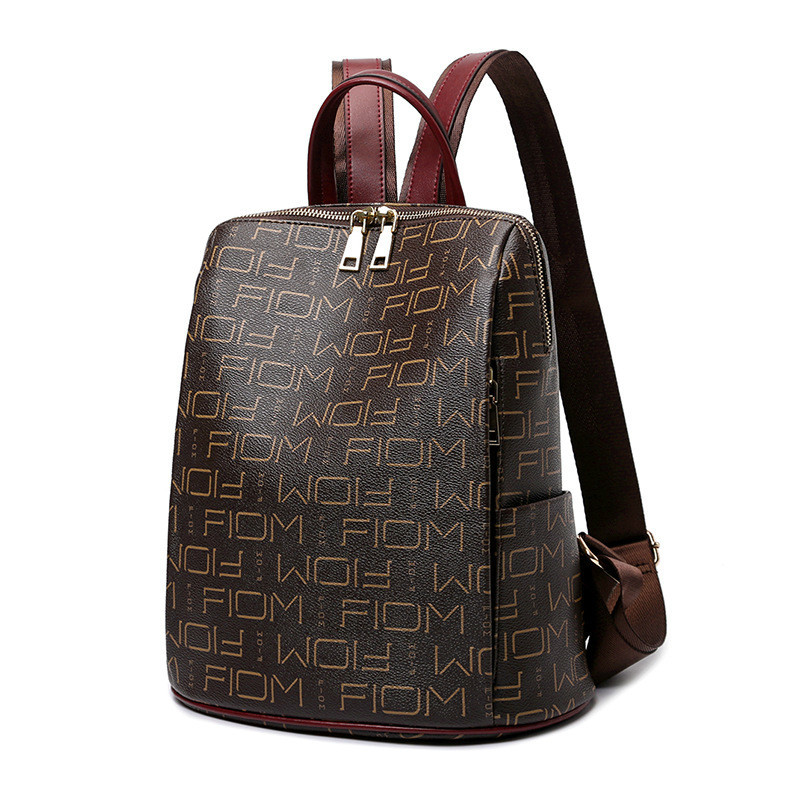2019 Women Backpack Quality PU Leather Shoulder Retro Female SchoolBag Girl Travel Multi Function Bagpack Female Phone Pouch in Backpacks from Luggage Bags