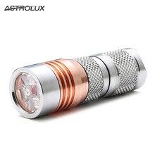 Astrolux S41S Stainless Steel Mini 4/7modes 1600LM 4x Nichia 219B/XP-G3/G2 A6 LED Flashlight 18350 16340 torch+Clip+Lanyard