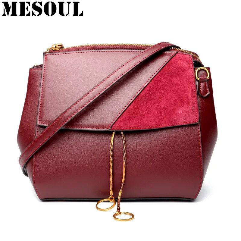 Fashion Brand Women Messenger Bags Genuine Leather Shoulder Bag For Ladies 2017 New High Quality Small Chain Crossbody Bag 2017 new crossbody bags for women candy colors messenger bag brand fashion ladies shoulder bag women leather handbag l4 2616