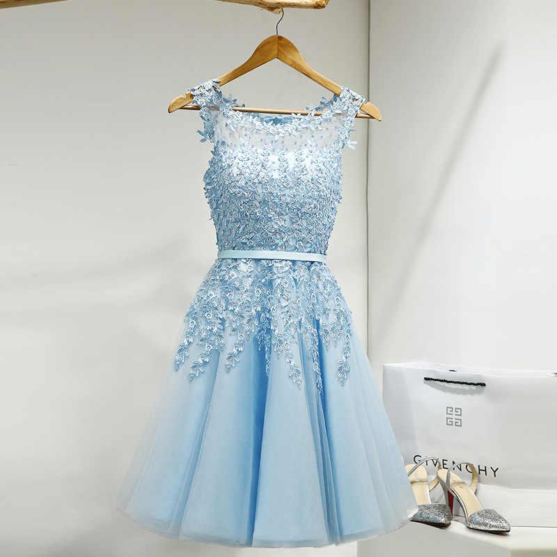 YiiYa/платье подружки невесты для девочек; большие размеры; Короткие вечерние платья розового и синего цвета; коллекция 2019 года; женское платье; vestido madrinha LX073