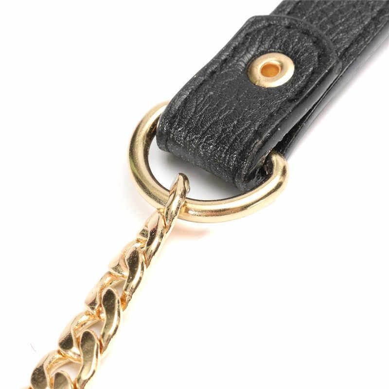 120 cm Cadeia Saco de Ouro Cintos de Correias de Substituição Do Ombro Longa Alça Da Bolsa de Couro Alças para Bolsas de Cinto Peças Saco Preto marrom