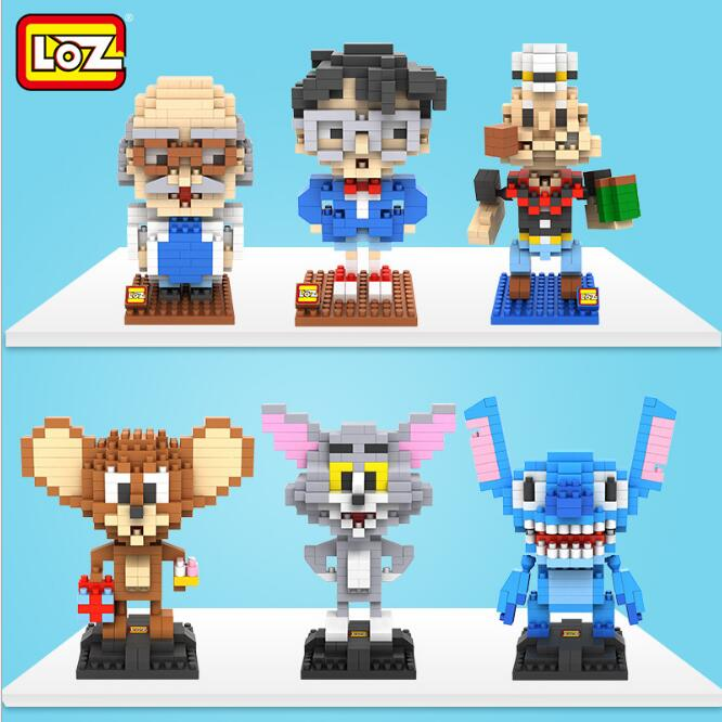 LOZ Mini Block Classic Model Detective Brick Popeye Tom Jerry Creativity Micro Building Blocks Diy Toys for Chindlren 9442