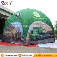 Factory direct sale 8m Inflatable spider tent with customized digital printing inflatable lawn tent toy tent for advertising