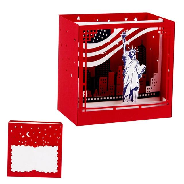 3D Pop Up New York Greeting Cards Christmas Birthday Valentine Invitation