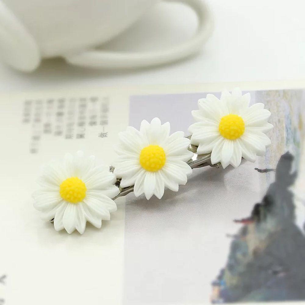 Lovely Small Daisy Flower Elastic Hair Ring Rope Bands Ponytail Girls Kids Holder Wedding Hair Clip Headdress Hair Accessories