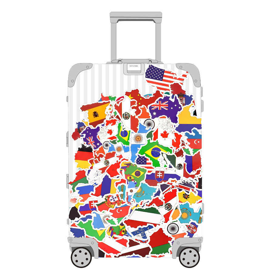 52 Set Country Flag Travel Stickers Sticker Travel Travel Hotel Suitcase Laptop