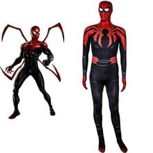 Superior Spiderman Costume Cosplay Superhero Costume For Adult Kids Jumpsuit Halloween Costume For Men Women Kids Bodysuit стоимость