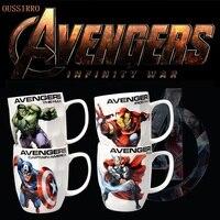 Super herói vingadores liga da justiça/capitão américa/ironman/hulk/spiderman tema leite/café canecas cor pura ferramenta de cozinha presente|Can.| |  -