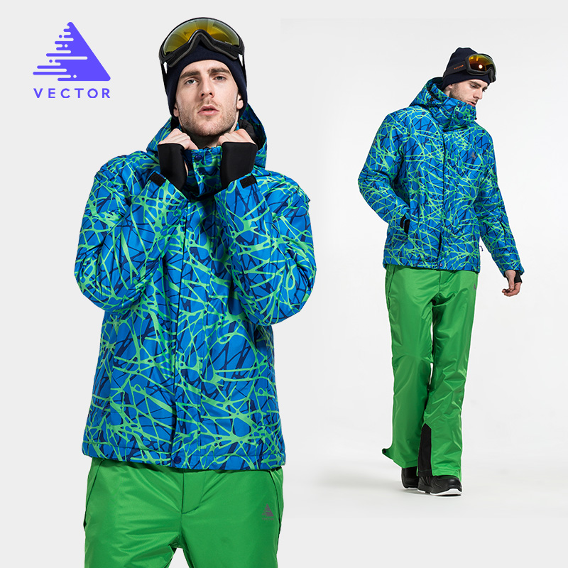VECTOR Winter Ski Suit Men Warm Windproof Waterproof Ski Jacket and Pants Outdoor Snow Skiing Snowboard Set Brand HXF70012 vector js 100 pro set