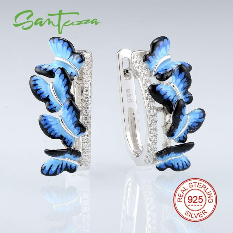 SANTUZZA Silber Ohrringe Für Frauen 925 Sterling Silber Ohrstecker - Modeschmuck - Foto 2