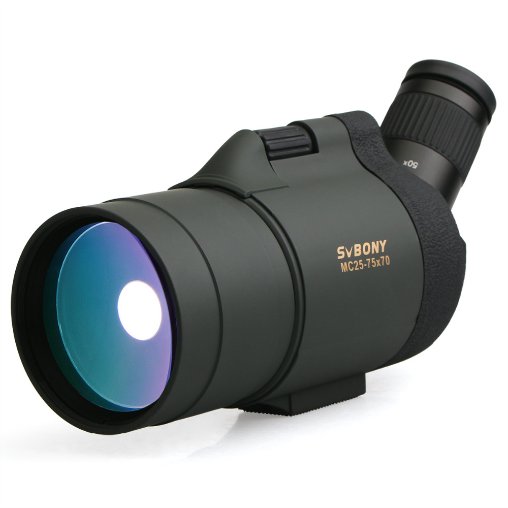 купить SVBONY 25-75x70 MAK Telescope SV41 Refraction Zoom Spotting Scope Hunting Optics BAK4 Prism Long Range Waterproof w/TripodF9334 по цене 6620.24 рублей