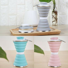 500ml Collapsible Travel Cup Silicone Mug Coffee Mugs Reusable Sport Folding Water Bottles 2019 Newest