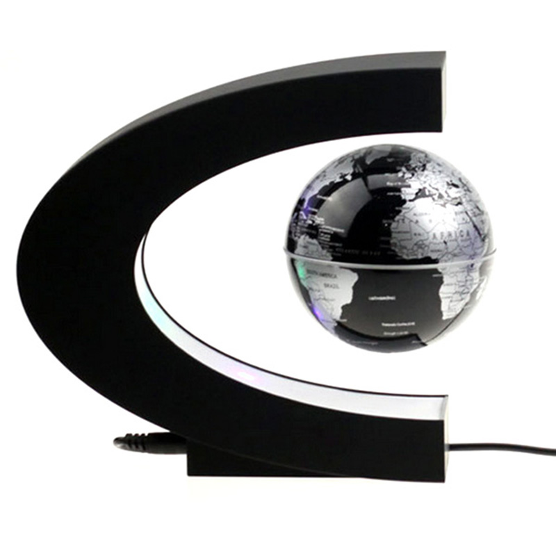 1 Piece Anti-Gravity Maglev Globe Rotation Perpetual Motion Machine Office Desktop Toys Decoration Figurines Miniatures