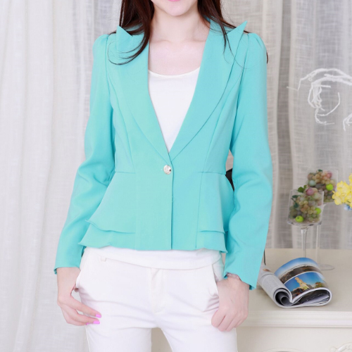 J64117 Fashion Candy Color Single Button Business Suit OL Blazers And Jacket