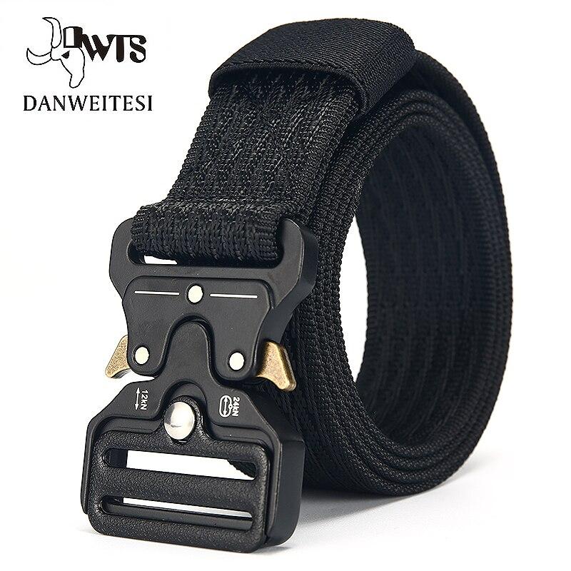 [DWTS]Belt Male Tactical military Canvas Belt Outdoor Tactical Belt men's Military Nylon Belts Army ceinture homme