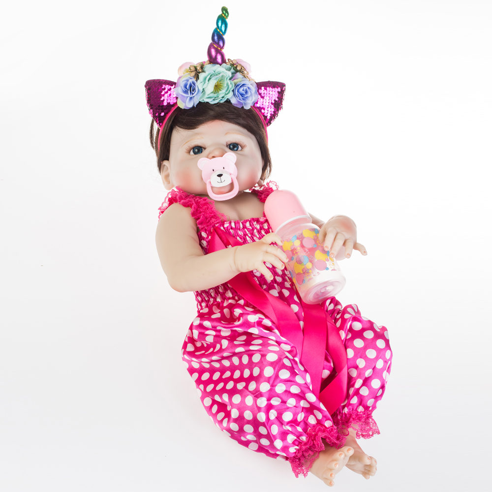 "NPK 57 เซนติเมตรน่ารักซิลิโคน Reborn ตุ๊กตา Bebe เด็กทารกสาวนุ่ม 22 ""ตุ๊กตาเสื้อผ้าที่ดีที่สุด brinquedos สำหรับเด็ก-ใน ตุ๊กตา จาก ของเล่นและงานอดิเรก บน   3"