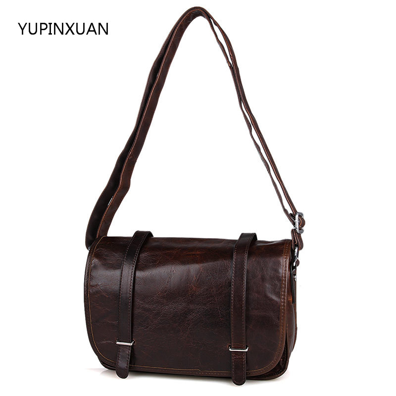 YUPINXUAN Europe Fashion Cow Leather Shoulder Bags Women Vintage Leather Messenger Bags Casual Travel Bag Real Leather Russian