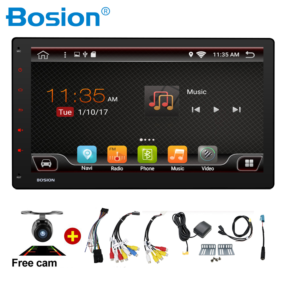2 Din Android 7 1 1024 600 Quad Core 10 1 inch Radio 2DIN Car GPS