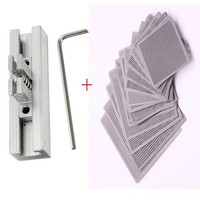 10pcs Directly Heat BGA Rework Reballing Universal Stencil with Template Jig Holder Fixtures Tool Parts