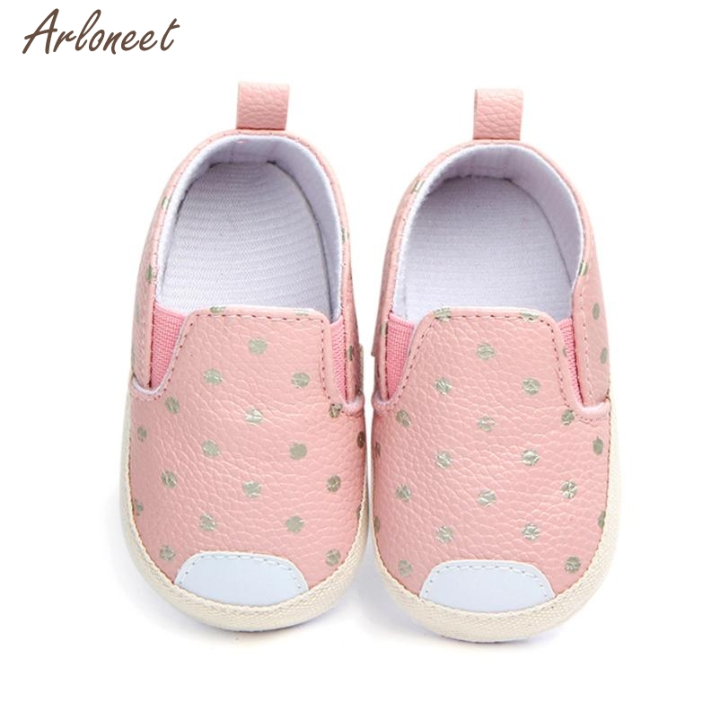 2018 baby shoes first walkers Dot Skate First Walkers Newborn Soft Soled Anti-Slip Shoes MAR19