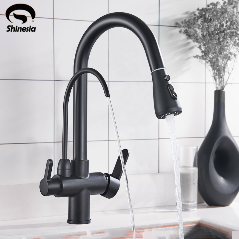 Bathroom Kitchen Purification Faucet Deck Mounted 360 Degree Rotation Mixer Tap Drinking Water Tap for Kitchen