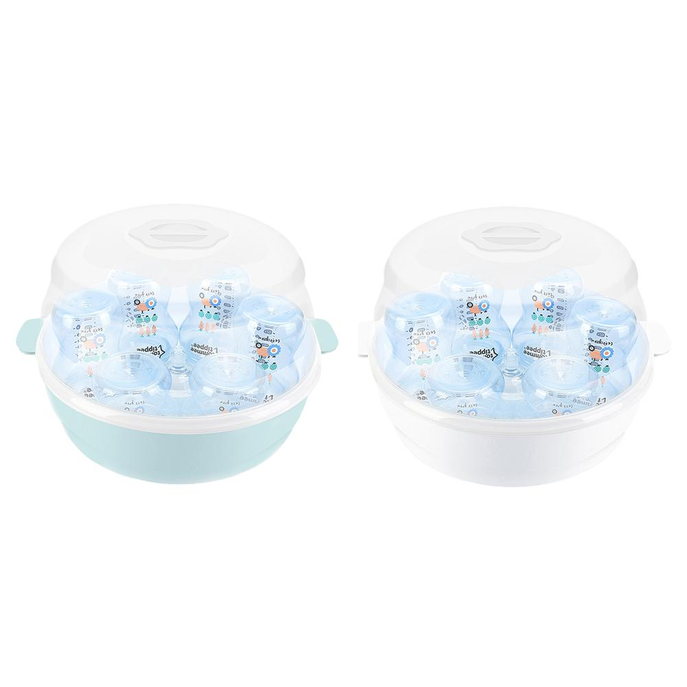 Baby Microwave Bottle Disinfection Box High Temperature Nipple Sterilizer Bottle Holder Storage Box Sterilize Bottles Pacifiers