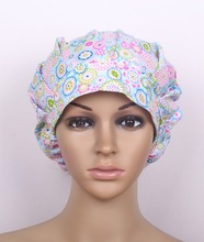surgical bouffant caps in blue