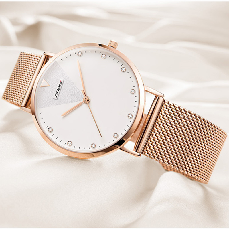 Image 5 - SINOBI Fashion Women's Diamond Wrist Watches Gold Watchband Top Luxury Brand Girl Crystal Quartz Clock Ladies watch Dropshipping-in Women's Watches from Watches