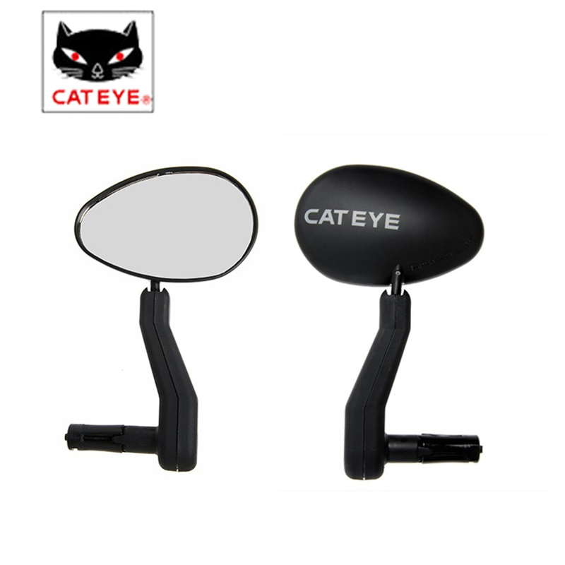 CATEYE BM-500G Bicycle Mirrors Left Right MTB Bike Rear View Rearview Scratch Adjustable Resistant Mirror Bike Accessories